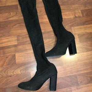 Thigh high boots from Zara